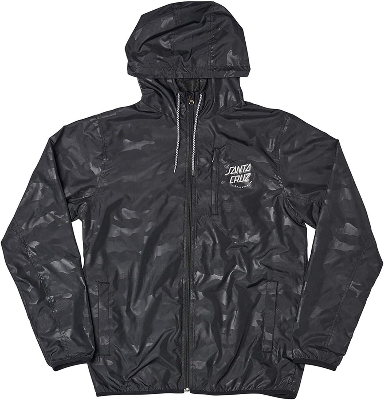 Santa Cruz Men's Partial Dot Hooded Windbreaker Jackets