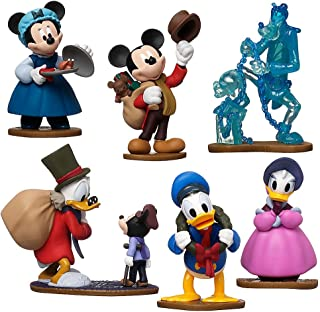 Disney Store Mickey's (Charles Dickens Inspired) Christmas Carol Figurine Playset 6 Piece Figure Play Set - Special Edition