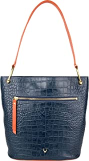 Hidesign Women's Shoulder Bag(CRO MEL RAN M BLUE LOB)