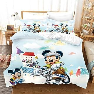 EA-SDN Disney Mickey Mouse - Ropa de Cama para bebé (135 x 200 cm)- Funda Nórdica de 3 Piezas para Cama 90, Multicolor (A15,155 x 220 cm)
