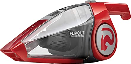 Dirt Devil Flipout Cordless Handheld Vacuum Cleaner, Cord Free Hand Vac, Rechargeable, Small, 16V Lithium, Red, BD10315B