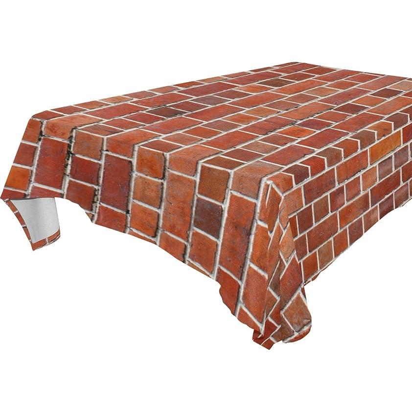 そんなにオペレーター中級バララ(La Rose) テーブルクロス 撥水 耐熱 厚手 北欧 正方形 おしゃれ 赤 レンガの壁 絵柄 テーブルマット 長方形 滑り止め 汚れに耐える 家庭の食卓カバー 飾りクロス ダイニング レストラン用 137x137cm