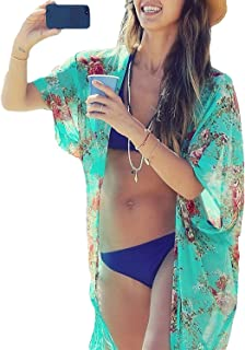 811af675a0a34 Yonala Womens Summer Fashion Printed Beach Wear Bikini Cover up Swimwear  Beachwear