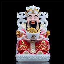 Statue Decoration Feng Shui Gift God of Wealth Statues Beautifully Painted Statue of God of Wealth Attract Wealth and Good...