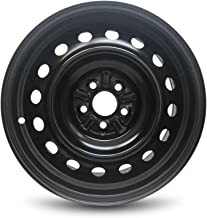 Road Ready Car Wheel For 2003-2008 Toyota Matrix Pontiac Vibe 16 Inch 5 Lug Black Steel Rim Fits R16 Tire - Exact OEM Replacement - Full-Size Spare