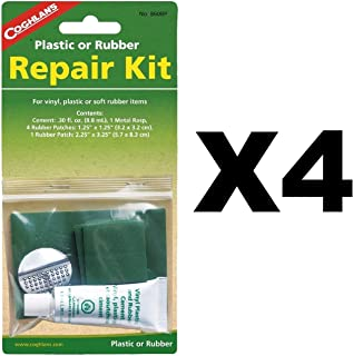 Coghlan's Plastic or Rubber Repair Kit w/ 0.3fl.oz. Rubber Patches (4-Pack)
