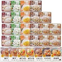 アイリスオーヤマ 非常食 5年保存 (製造から) 7日分 アルファ米 10種 28食セット スプーン付き 28食(1週間分)