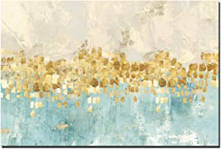 FajerminArt Modern Abstract Canvas Prints Wall Art - Golden Abstract Painting Canvas Paintings Wall Art Decor for Living Room (No Frame) (30x40 inch)