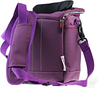 Navitech Purple DSLR SLR Camera Carrying Case and Travel Bag Compatibl...
