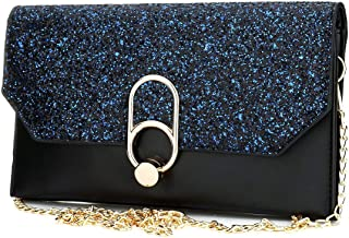 TOOGOO Women'S Evening Envelope Clutch Bags Wristlet Purse Handbag With Adjustable Strap(Black)