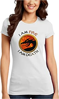 TooLoud I Am Fire I Am Death Juniors Petite T-Shirt