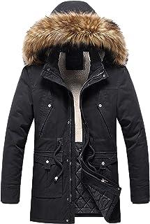 Men's Waterproof Ski Jacket Windproof Rain Snow Coat Hooded Windbreaker Snowboarding Raincoat with Removable Fur Hood
