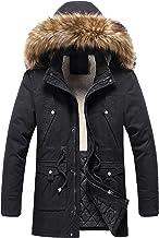 $77 » Letdown Accessories Men's Winter Puffer Jacket Thicken Winter Coat Warm Padded Jacket with Faux Fur Hood Softshell Windpro...
