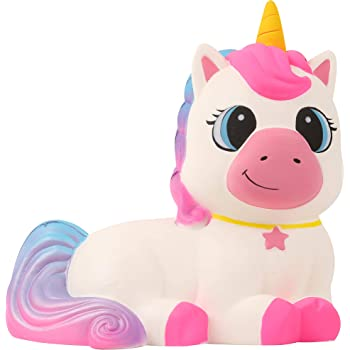 Anboor 9.1 Inches Squishies Giant Unicorn Horse Jumbo Kawaii Soft Slow Rising Scented Animal Squishies Stress Relief Kid Toys Gift