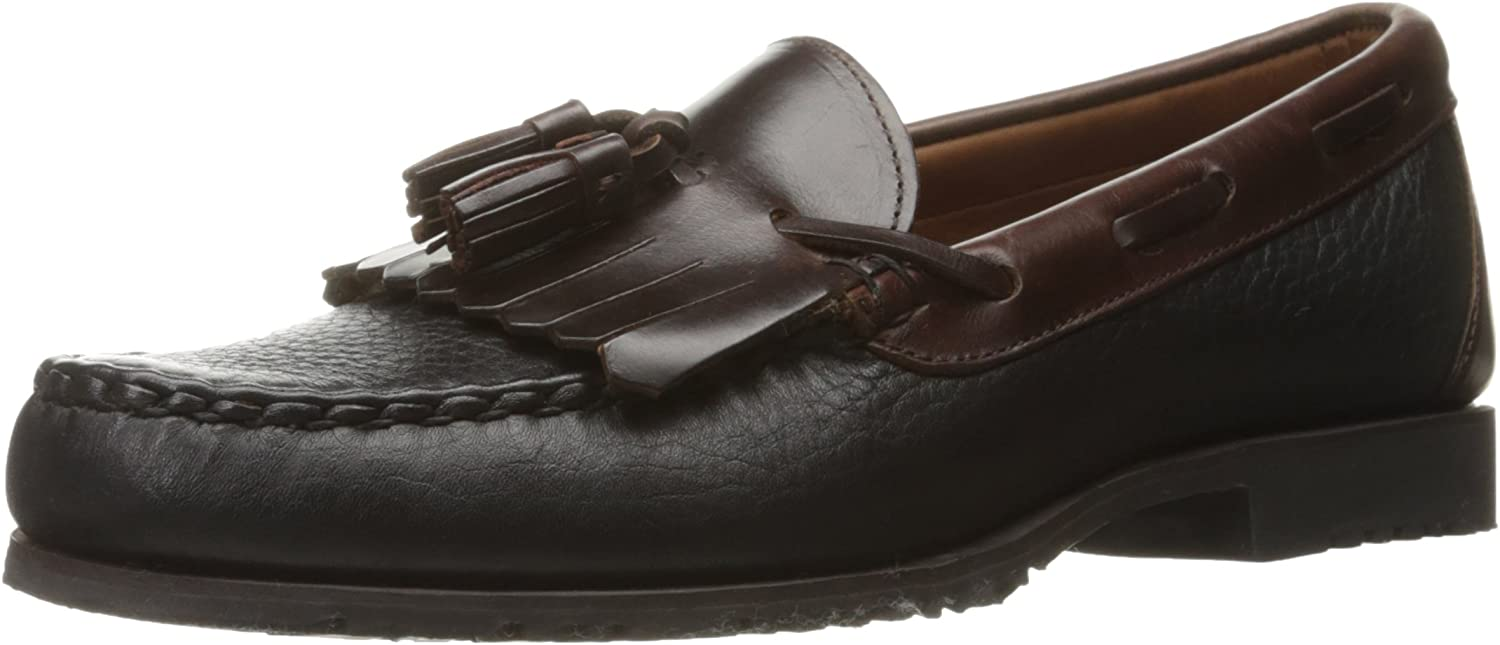 Allen Edmonds Men's Nashua Moccasin,Black Grain Brown,10 D US