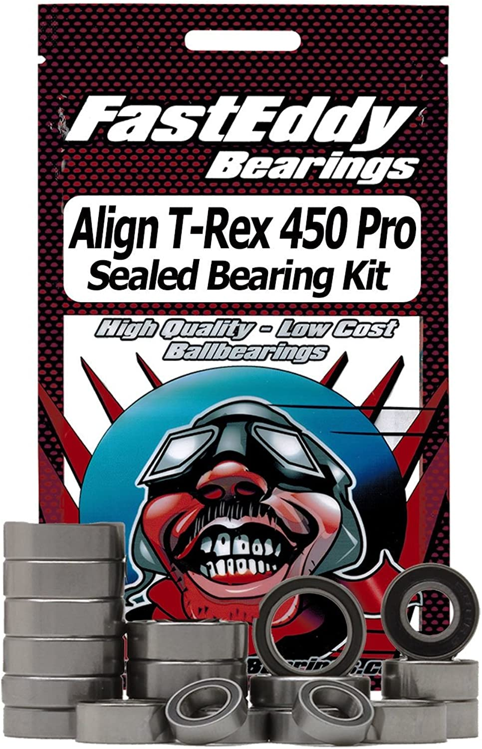 Align T-Rex 450 Pro Sealed Ball Bearing Kit for RC Cars
