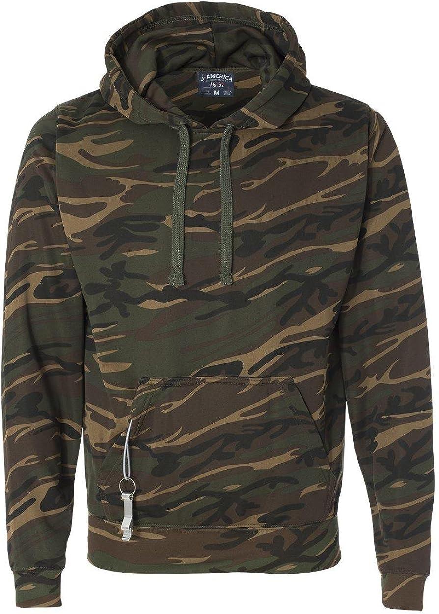 J. America Mens Tailgate Poly Fleece Hooded Pullover Sweatshirt - 8615