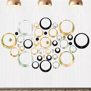 Miroir Cercle Sticker, 72 Pcs Miroir Sticker Rond pour Décorer Les Chambres Les Salons Les Bureaux et Mural Stickers Miroi...