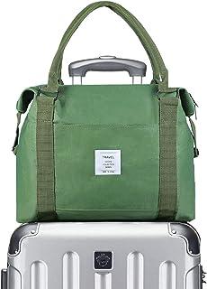 VEAC Reisetasche, leicht, wasserdicht, für Damen und Herren, Segeltuch, für Wochenendausflüge, Handgepäck im Trolleygriff, grün Grn - .