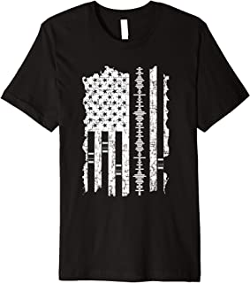 Audio Engineer Tee American Flag Engineering Shirts Gift