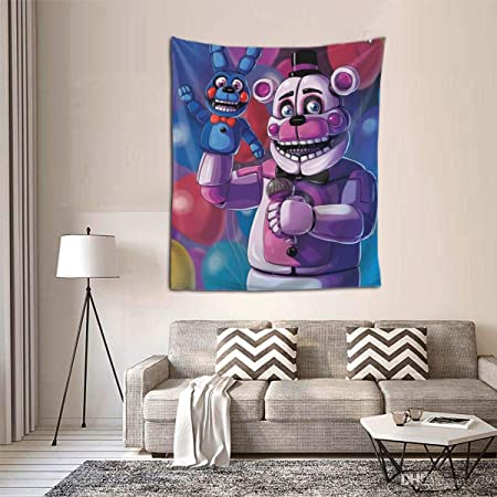 Gehiypa Five Nights At Freddy Fnaf Tapestry Colorful Art Wall Hanging Poster For Bedroom Living Room And Dorm Decor 60x40 Inch Amazon Co Uk Kitchen Home