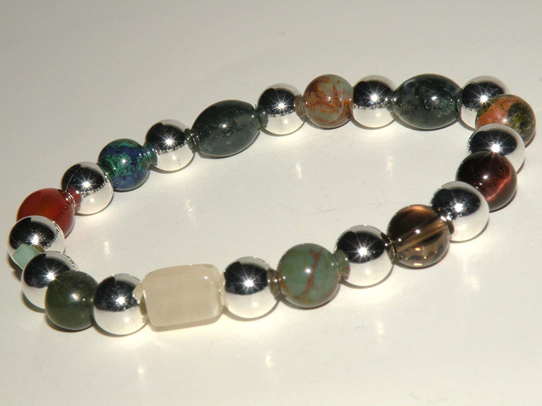 Pregnancy Under blast sales Fertility Great interest Natural Gemstone with Bracelet Silve Healing