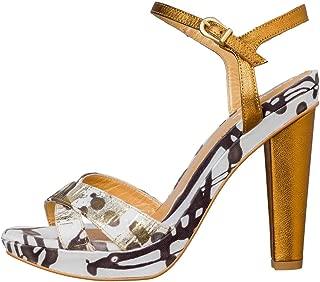 Sandali Di Vestito Desigual Donna Roca Tela in Oro Vendita