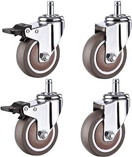 4 x Zwenkwielen voor zwaar gebruik, Mute-zwenkwielen, Rubberen zwenkwielen met rem, Trolley-meubelzwenkwiel, Zwenkwielen v...