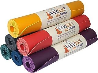 helloSun Esterilla Yoga Calidad Premium, Goma Natural, Agarre Extra, Anti Deslizante, Absorbe la Humedad, Ligera, Certificado OEKOTex, Hecha en Europa, 4mm, Varios Colores
