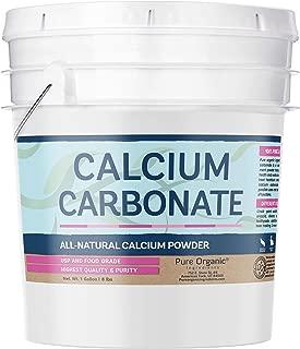 Pure Calcium Carbonate Powder (1 Gallon (8 lb)) by Pure Organic Ingredients, Multi-Purpose Powder, Dietary Supplement, Antacid, Acid Neutralizer, Food Preservative, Brewing/Wine Making