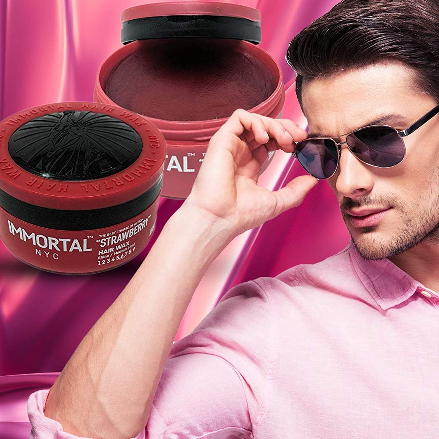 Immortal NYC Strawberry Scented Hair Wax for Men