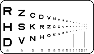 Pocket Near Vision Eye Chart, Traditional Runge