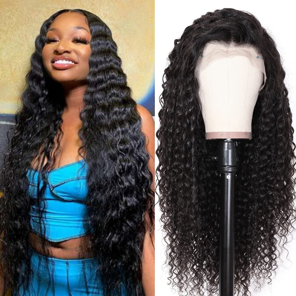 13X4 deep Wave Human Hair Front Wigs 16Inch New products world's highest quality popular Attention brand Lace
