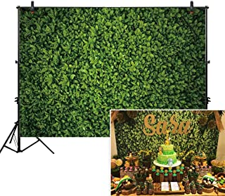 Allenjoy 7x5ft Fabric Green Leaves Wall Backdrop for Photography Grass Floordrop Picture Background Spring Safari Party Ground Decor Outdoorsy Theme Newborn Baby Shower Wedding Photo Studio Props Drop