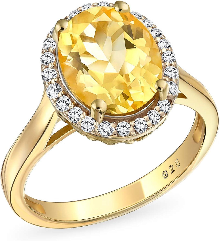 Personalize 3CT shop Brilliant Cut Elegant Oval Gemstone Citrine Yellow Zirco