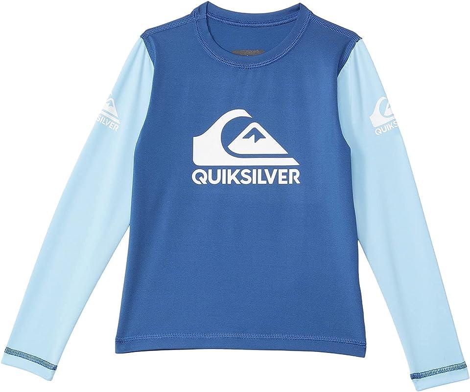 Quiksilver Boy's Heats On Long Sleeve (Toddler/Little Kids) True Navy 7 Little Kids