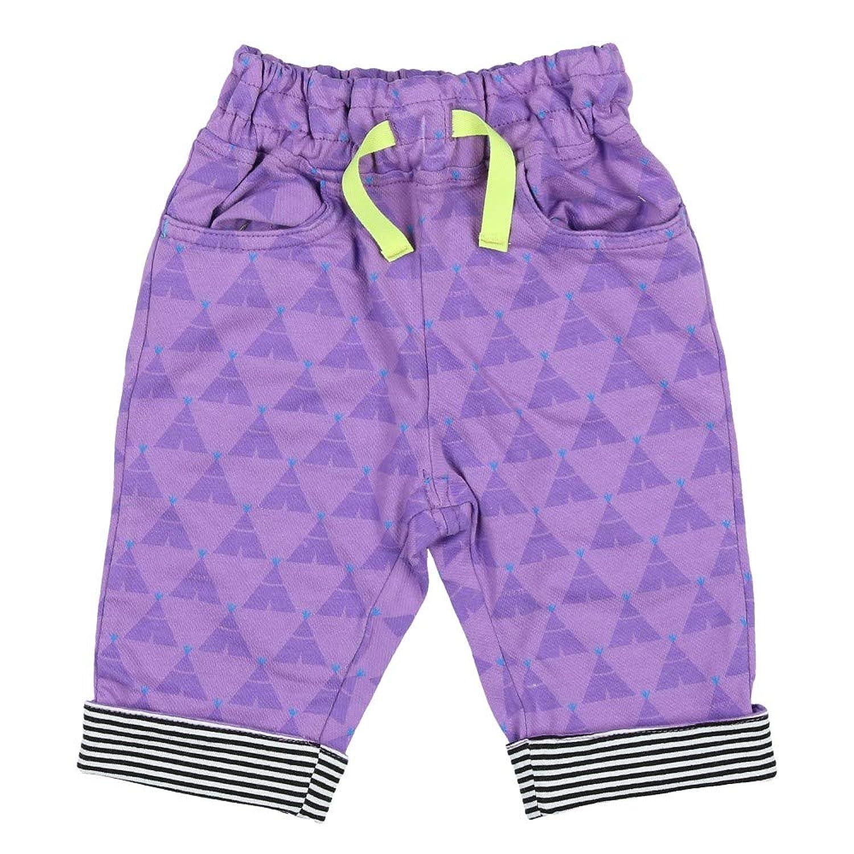 【子供服】 Caldia (カルディア) ストレッチカルゼテント柄7分丈パンツ 110cm A31100