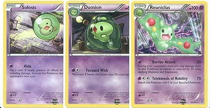 Pokemon Reuniclus, Duosion and Solosis - Rare Card Evolution Set (Plasma Blast #42, #43 and #44)
