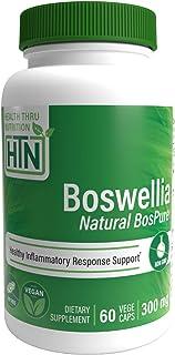 Boswellia BosPure 75% Boswellic Acids (10% AKBA - High Potency), Non GMO 300mg 60 Vege-Capsules