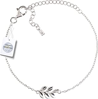Women's Bracelet 925 Sterling Silver Jewelry 18K Plated Adjustable with Swarovski Zirconia Charm Bracelet…