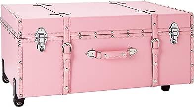 DormCo The Designer Wheeled Trunk - Baby Pink - Large