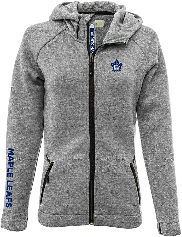 Levelwear LEY9R Women's Motion Insignia Bold Full Zip Hooded Jacket Heather Pebble, X-Large
