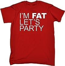 123t Men's I'm Fat Let's Party Funny T-Shirt