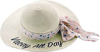 Embroidered Beach Hat-Vacay All Day