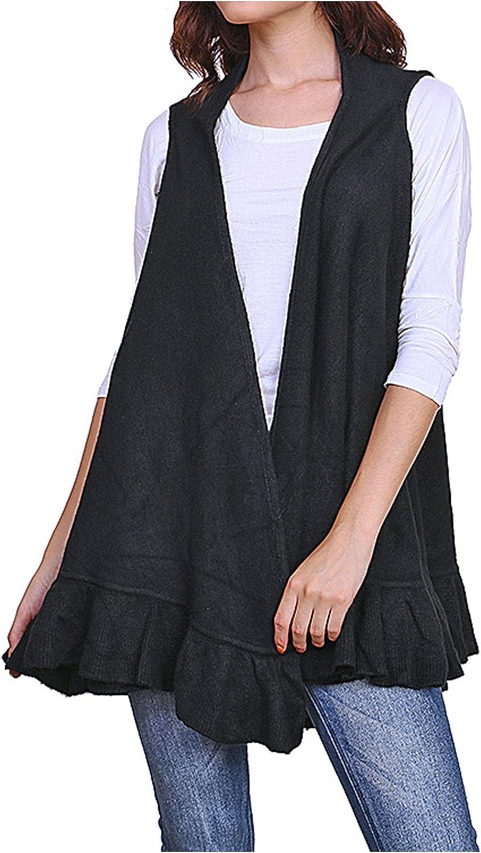 Women's Ruffle Hem Knit Vest
