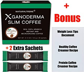 Slimming Instant Coffee Weight Loss & Detox Blend! 100% All Natural Ingredients! Appetite Suppressant! 30 Day Supply