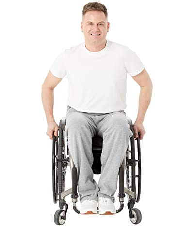 IZ Adaptive Seated Sweatpants Zip Fly (Grey) Men