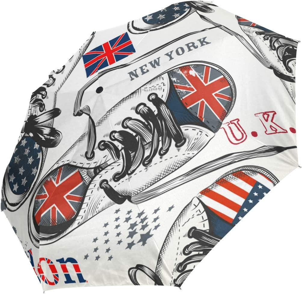 Auto Open Close Special sale item Travel Special Campaign Umbrella Character US Sports Boo Flag UK