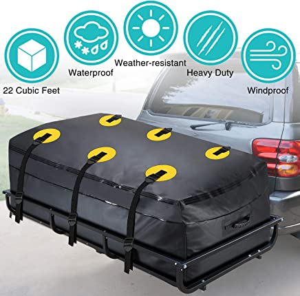 MODOKIT Trailer Hitch Bag-100% Waterproof Hitch Tray Cargo Carrier Bag for Vehicle Car Truck SUV Vans, Heavy Duty Cargo Bags for Hitch Racks-22 Cubic Feet (60x24x26)