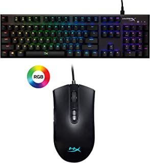 HyperX Alloy FPS RGB - Mechanical Gaming Keyboard and HyperX Pulsefire Core - RGB Gaming Mouse